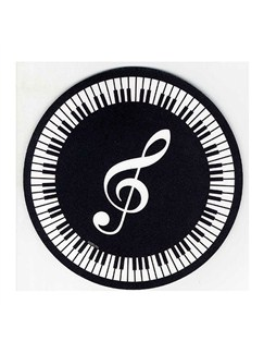 Mouse Mat: Treble Clef And Keyboard Design  |