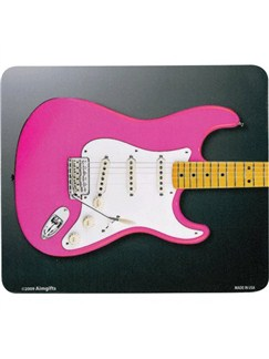 Mouse Mat: Pink Electric Guitar  |
