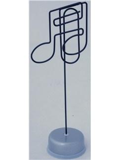 Note Holder: Semiquaver Design - Black Top/Silver Base  |