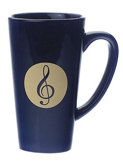 Latte Mug: Treble Clef (Blue)  |