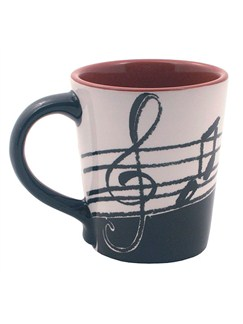 Tasse Latte Mug: Notes De Musique  |