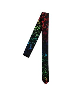 Skinny Tie - Multi-Coloured Notes And Clefs  |