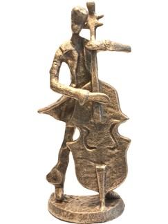 Bronze Figurine - Bass Player (7.5 Inch)  |