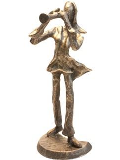 Bronze Figurine - Clarinet Player (7.5 Inch)  |