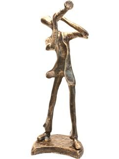 Bronze Figurine - Trumpet Player (7.5 Inch)  |