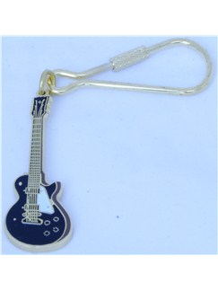 Keyring: Electric Guitar Design (Black)  | Electric Guitar