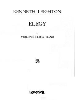 Leighton: Elegy Books | Cello, Piano Accompaniment