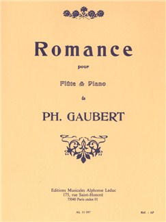 Philippe Gaubert: Romance For Flute And Piano Books | Flute, Piano Accompaniment