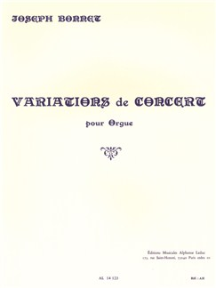 Joseph Bonnet: Variations De Concert For Organ Books | Organ