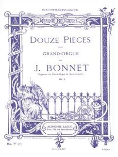 Joseph Bonnet: 12 Pièces Op.5 (Orgue) Livre | Orgue