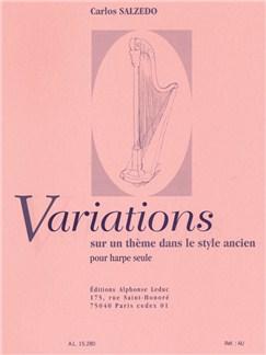 Carlos Salzedo: Variations Sur Un Thème Dans Le Style Ancien (Harpe) Livre | Harpe