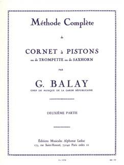 Balay: Méthode Cornet À Pistons Volume 2 Books | Trumpet