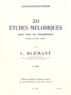 Louis Blémant: 20 Etudes Mélodiques Vol.2 (Saxophone) Books | Saxophone