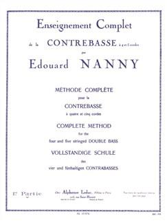 Édouard Nanny: Méthode Complète Vol.1 (Double Bass) Books | Double Bass