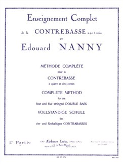 Édouard Nanny: Méthode Complète Vol.1 (Double Bass) Buch | Kontrabass