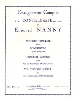 Édouard Nanny: Méthode Complète Vol.2 (Double Bass) Books | Double Bass