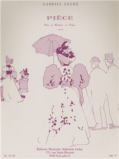 Gabriel Fauré: Pièce Books | Flute, Oboe, Violin, Piano Accompaniment