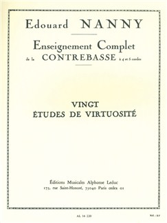 Edouard Nanny: Complete Study of the Double Bass (20 Virtuosic Studies) Books | Double Bass