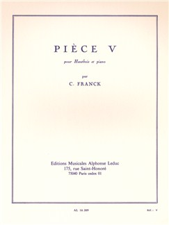 César Franck: Pièce V (Oboe/Piano) Books | Oboe, Piano Accompaniment