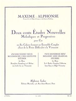 Maxime-Alphonse: 200 Etudes Nouvelles Vol.4 - 20 Études Difficiles (Horn) Books | French Horn