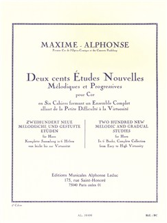Maxime Alphonse: Two Hundred New Melodic And Gradual Studies - Vol. 5 (Horn) Books | Horn