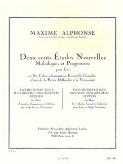Maxime-Alphonse: 200 Etudes Nouvelles Vol.5 - 20 Etudes Très Difficiles (Horn) Buch | Horn