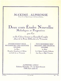 Maxime-Alphonse: 200 Etudes Nouvelles Vol.6 - 10 Grandes Etudes Mélodiques Et De Virtuosité (Horn) Books | Horn