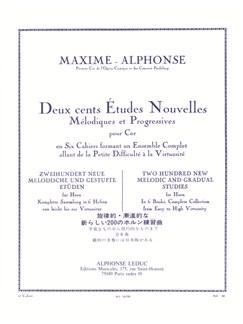 Maxime-Alphonse: 200 Etudes Nouvelles Vol.2 - 40 Etudes Faciles (Horn) Buch | Horn