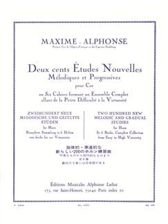 Maxime-Alphonse: 200 Etudes Nouvelles Vol.3 - 40 Etudes De Moyenne Force (Horn) Buch | Horn