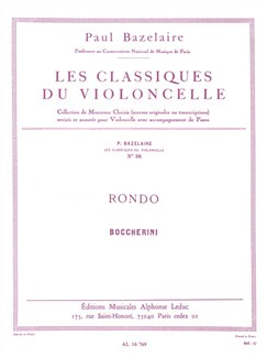 Luigi Boccherini: Rondo For Cello And Piano (Bazelaire) Books | Cello, Piano Accompaniment