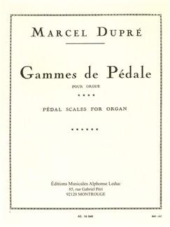 Marcel Dupré: Gammes de Pédale (Orgue) Livre | Orgue