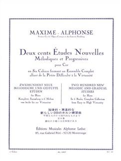 Maxime-Alphonse: 200 Etudes Nouvelles Vol.1 - 70 Etudes Très Faciles (Horn) Books | Horn