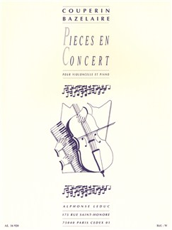François Couperin: Pièces En Concert (Cello/Piano) Books | Cello, Piano Accompaniment