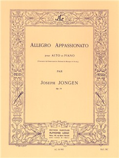 Joseph Jongen: Allegro Appassionato Op. 79, For Viola And Piano Books | Viola, Piano Accompaniment