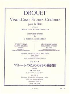 Louis Drouet - Vingt-Cinq Études Célèbres Pour La Flûte Books | Flute, Study Guide