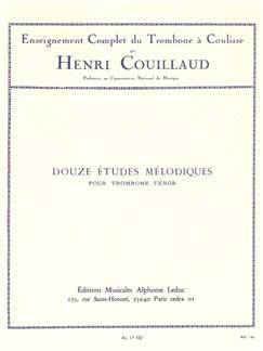 Henri Couillaud: 12 Etudes mélodiques (Trombone Seule) Livre | Trombone