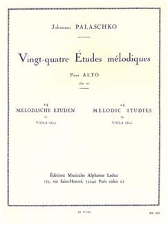 Johannes Palaschko: 24 Etudes Mélodiques Op.77 (Viola Solo) Books | Viola