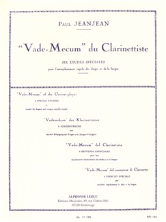 Paul Jeanjean: Vade-Mecum Du Clarinettiste Libro | Clarinete