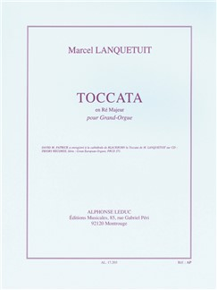 Marcel Lanquetuit: Toccata In D For Organ Books | Organ