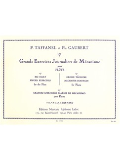 Taffanel/Gaubert: 17 Exercices Journaliers De Mécanisme (Flute) Books | Flute