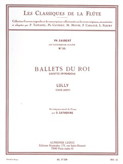 Jean-Baptiste Lully: Ballets Du Roi - Gavotte En Rondeau (Flute/Piano) (Gaubert) Books | Flute, Piano Accompaniment