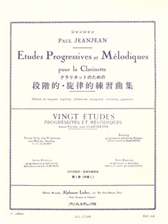 Paul Jeanjean: 20 Études Progressives Et Mélodiques For The Clarinet Vol.1 Libro | Clarinete