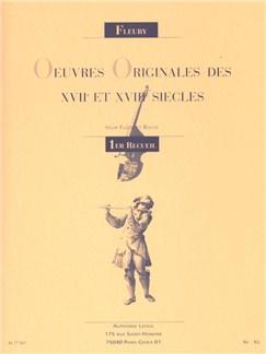 Oeuvres Originales Des XVIIeme Et XVIIIeme Siècles(Flute/Piano) (Fleury) Books | Flute
