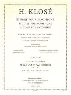 Hyacinthe Klosé: Études De Genre Et De Mécanisme (Saxophone) Livre | Saxophone