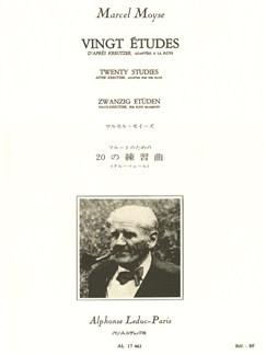 Marcel Moyse: 20 Etudes D'Apres Kreutzer (Flute) Buch | Querflöte
