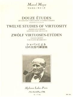 Marcel Moyse: 12 Etudes De Grande Virtuosité D'Apres Chopin (Flute) Books | Flute