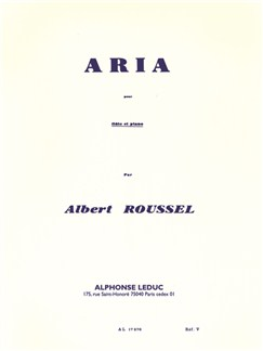 Albert Roussel: Aria For Flute And Piano Buch | Querflöte, Klavierbegleitung