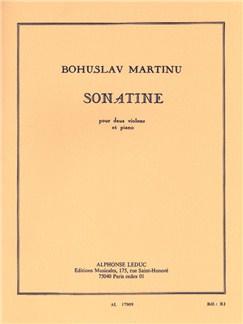 Bohuslav Martinu: Sonatine For Two Violins And Piano H198 Bog | Violin(Duet), Klaverakkompagnement