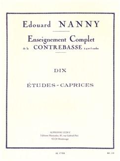 Edouard Nanny: Dix Etudes-Caprices (Double Bass) Bog | Kontrabas