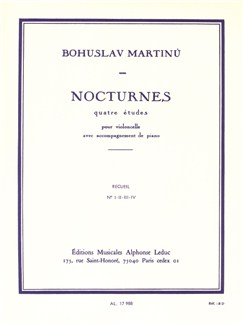 Bohuslav Martinu: Nocturnes For Cello And Piano H189 Books | Cello, Piano Accompaniment